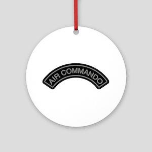 Air Commando Rocker Tab Ornament (Round)