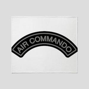 Air Commando Rocker Tab Throw Blanket