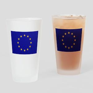 EU European Union Drinking Glass