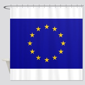 EU European Union Shower Curtain