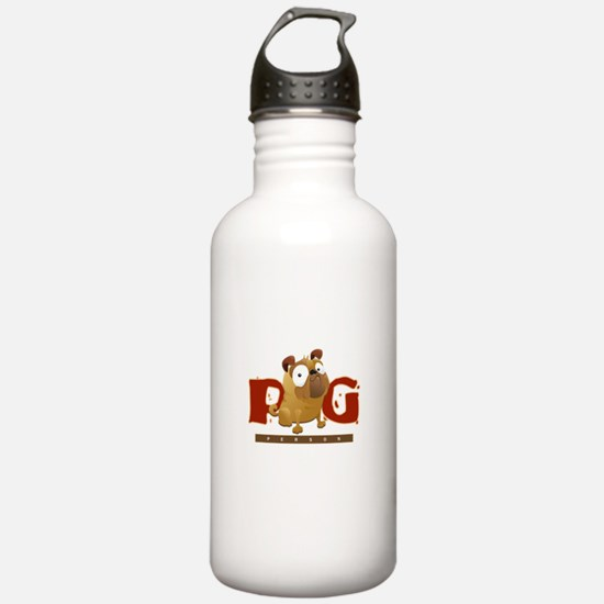 Pug Person Water Bottle