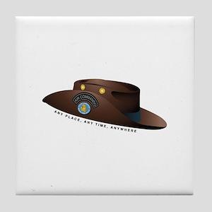 Air Commando Hat Tile Coaster
