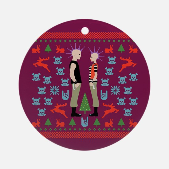 Vicious Christmas Sweater Tee Ornament (Round)