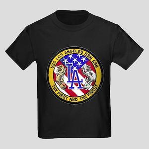 USS Los Angeles SSN 688 Kids Dark T-Shirt