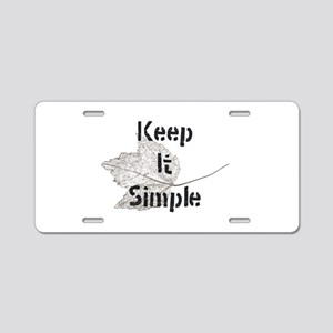 Keep It Simple Aluminum License Plate
