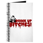Dracula Drink up Bitches Halloween Journal