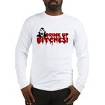 Dracula Drink up Bitches Halloween Long Sleeve T-S