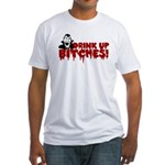 Dracula Drink up Bitches Halloween Fitted T-Shirt