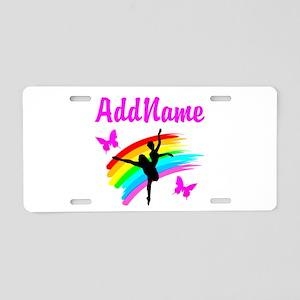 BALLERINA Aluminum License Plate