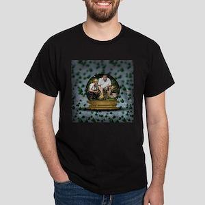 Personalizable Snowglobe Photo Frame Dark T-Shirt