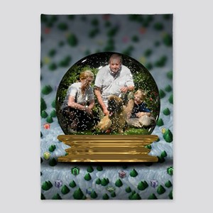 Personalizable Snowglobe Photo Frame 5'x7'Area Rug