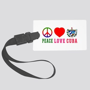 Peace Love Cuba Large Luggage Tag