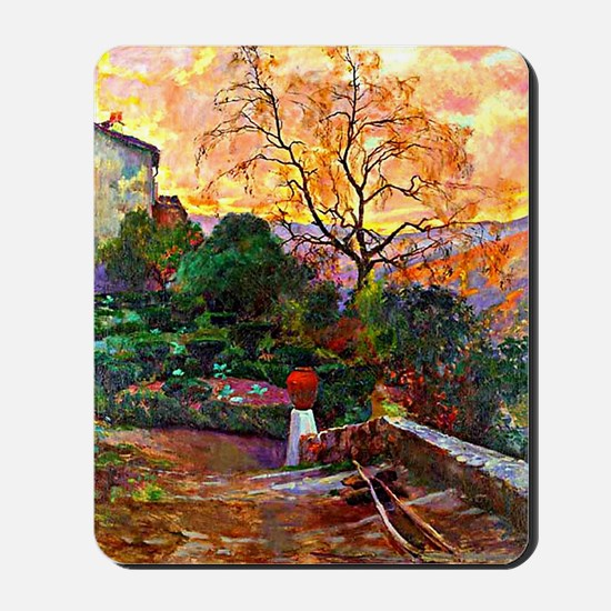 Garden of Spanish Farmhouse, painting by Mousepad