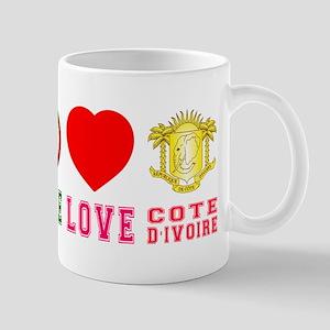 Peace Love Cote dIvoire Mug