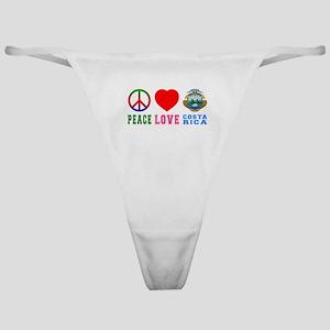 Peace Love Costa Rica Classic Thong