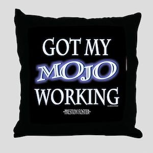 Mojo Working Throw Pillow