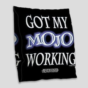 Mojo Working Burlap Throw Pillow