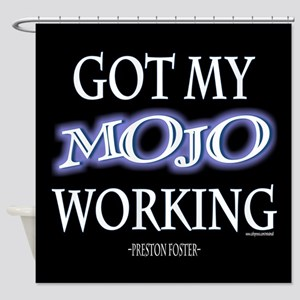 Mojo Working Shower Curtain