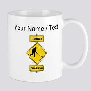 Custom Hockey Crossing Sign Mugs