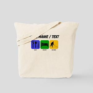 Custom Eat Sleep Score Tote Bag