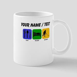 Custom Eat Sleep Score Mugs