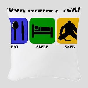 Custom Eat Sleep Save Woven Throw Pillow
