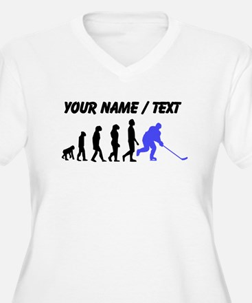 Custom Hockey Evolution Plus Size T-Shirt