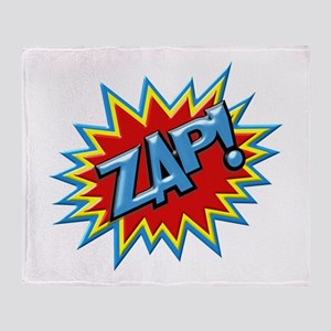 Comic Book Burst Zap! 3D Throw Blanket