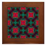 Abstract Fractal Pattern Framed Tile