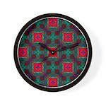 Abstract Fractal Pattern Wall Clock