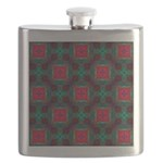 Abstract Fractal Pattern Flask