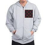 Abstract Fractal Pattern Zip Hoodie