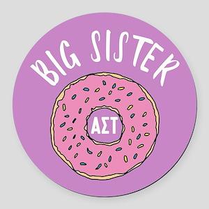 Alpha Sigma Tau Big Donut Round Car Magnet