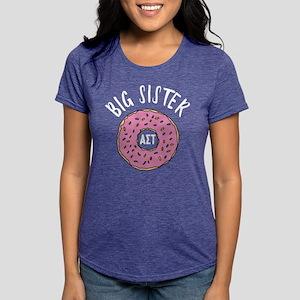Alpha Sigma Tau Big Donut Womens Tri-blend T-Shirt