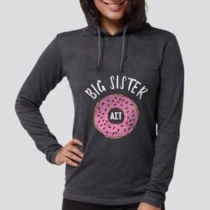 Alpha Sigma Tau Big Donut Womens Hooded Shirt