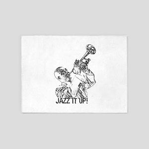 Jazz it up-black 5'x7'Area Rug