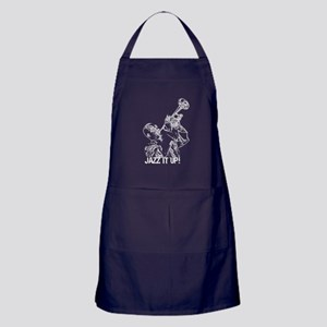 Jazz it up-White Apron (dark)