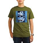 Vintage African Animals Organic Men's T-Shirt (dar