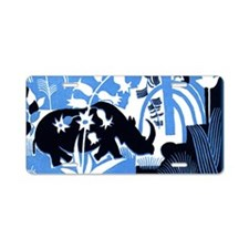 Vintage African Animals Aluminum License Plate