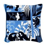 Vintage African Animals Woven Throw Pillow