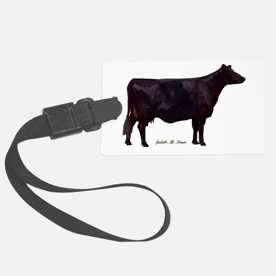 Angus Beef Cow Luggage Tag