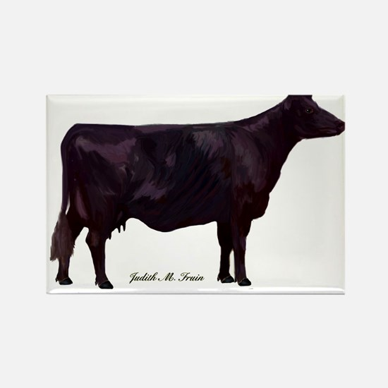 Angus Beef Cow Rectangle Magnet