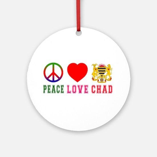 Peace Love Chad Ornament (Round)
