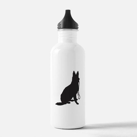 Shepherd with Leash Water Bottle