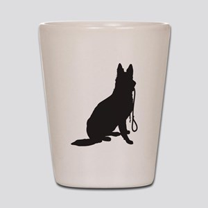 Shepherd with Leash Shot Glass