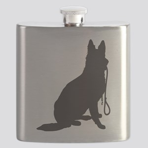 Shepherd with Leash Flask
