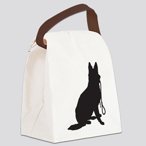 Shepherd with Leash Canvas Lunch Bag