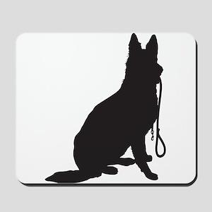 Shepherd with Leash Mousepad