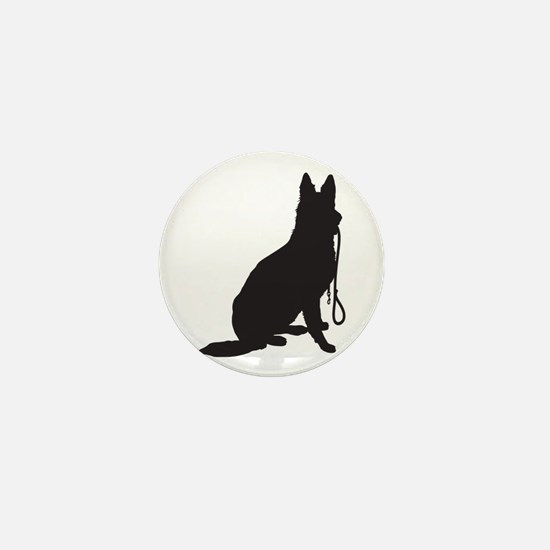 Shepherd with Leash Mini Button