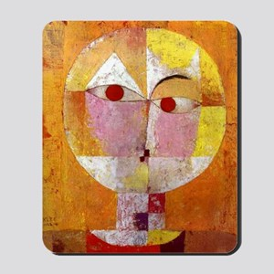 Modern Art Face with Eyes Mousepad